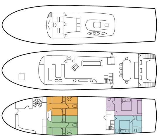 Floor Plan of The Alaskan Story